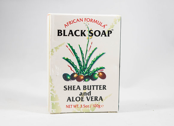 African Formula Black Soap Shea Butter and Aloe Vera