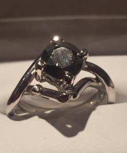 Meteorite Engagement Ring