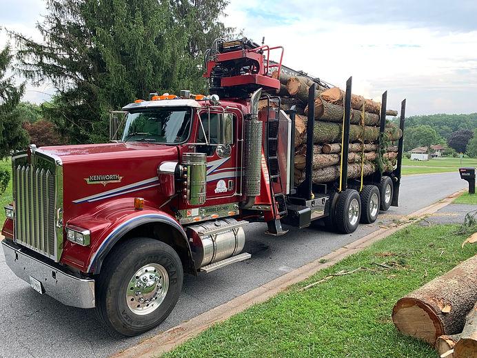 Braglio Farms loggig truck