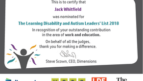 Learning Disability and Autism Leaders' List 2018
