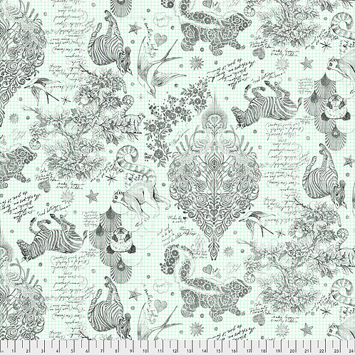 """Tula Pink Linework Sketchyer 108"""" Quilt Back"""