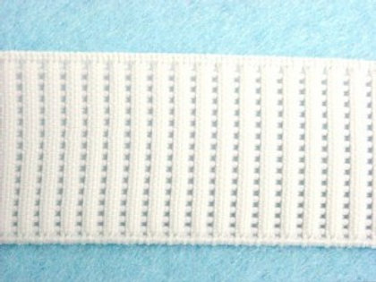 Ribbed Non Roll Waistband Elastic 1""