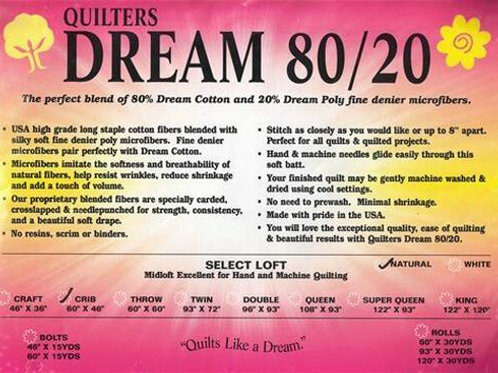 Quilter's Dream Natural 80/20 Batting