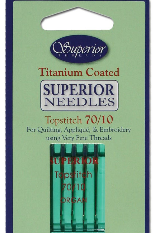 Superior #70/10 Topstitch Titanium-coated Needles