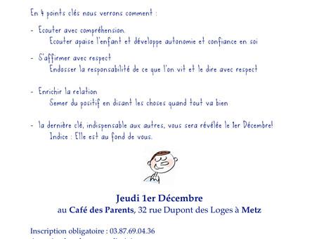 Conférence au café des parents- Metz