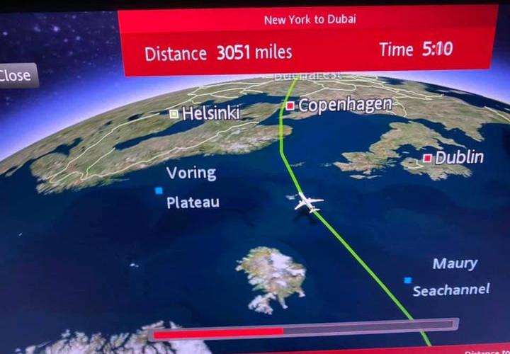 Headed south from Iceland. Coming in to Europe west of England.