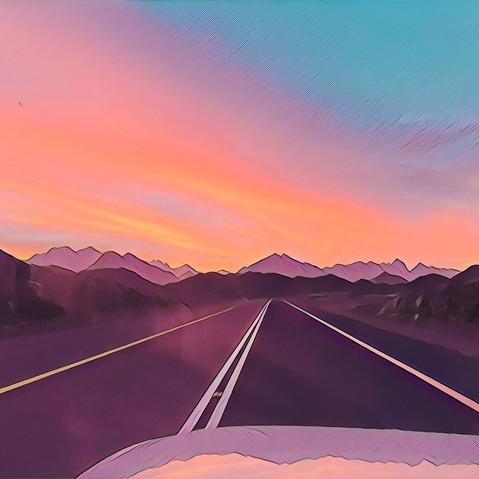 The road ahead. Tabuk/Sharma Highway.