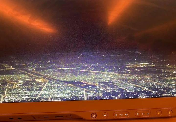 Cockpit display into Dubai.