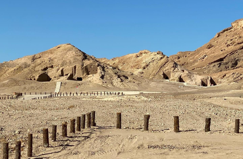 First Century Nabatean tombs near Al Bad'aa.