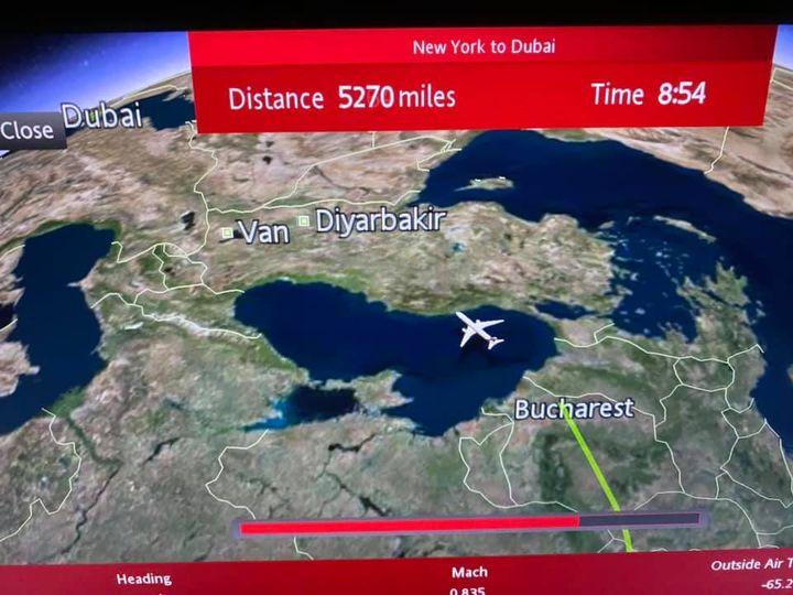 Over Bucharest.
