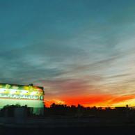 Sunset, gas station, Tabuk.