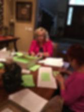 Volunteer adressing Shiela M.JPG