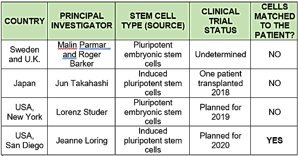 cell replacement research around the glo