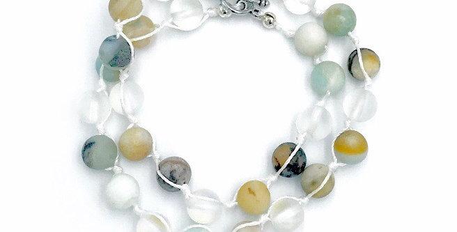 Amazonite Women's Knotted Wrap Bracelet