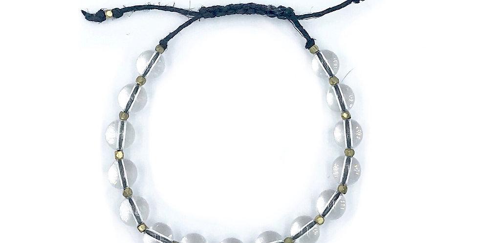 Crystal Adjustable Macrame Bracelet