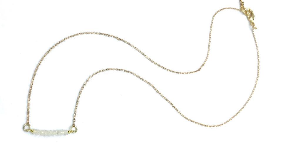 Moonstone Bar Necklace