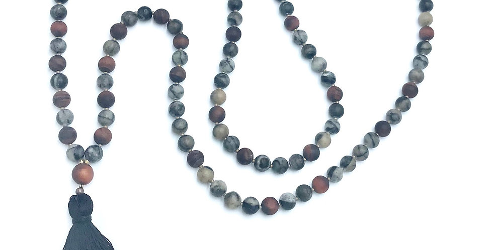 River Stone & Dragons Blood 108 Mala