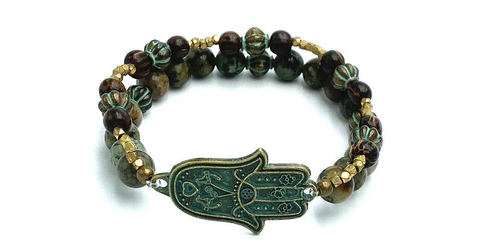 Brass Hamsa Bracelet