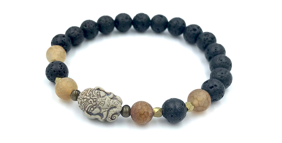 Ganesha Men's Yogi Stack Bracelet