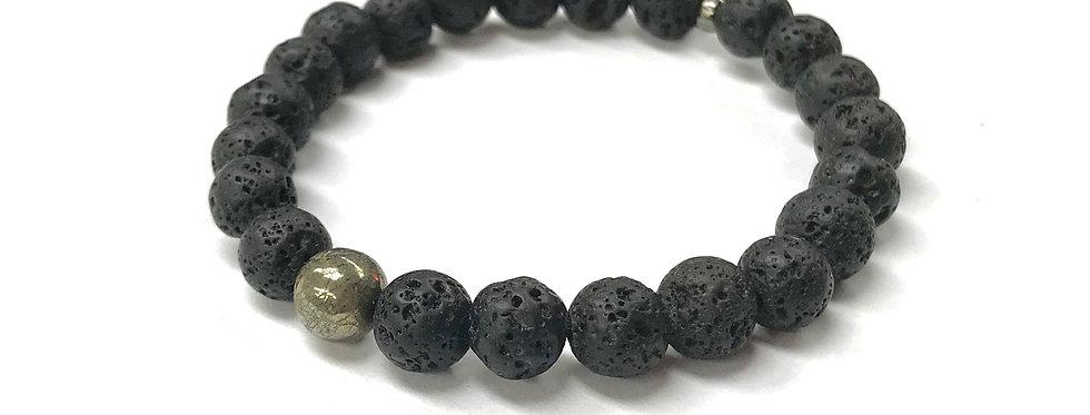 Men's Lava Rock Yogi Stack Bracelet
