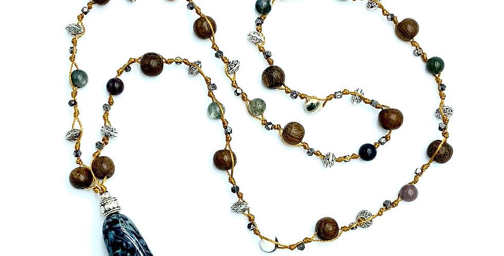 Nature Vibrations Aventurine & Wood Necklace