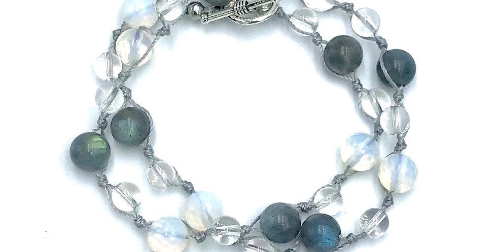 Lab & Opal Women's Knotted Wrap Bracelet