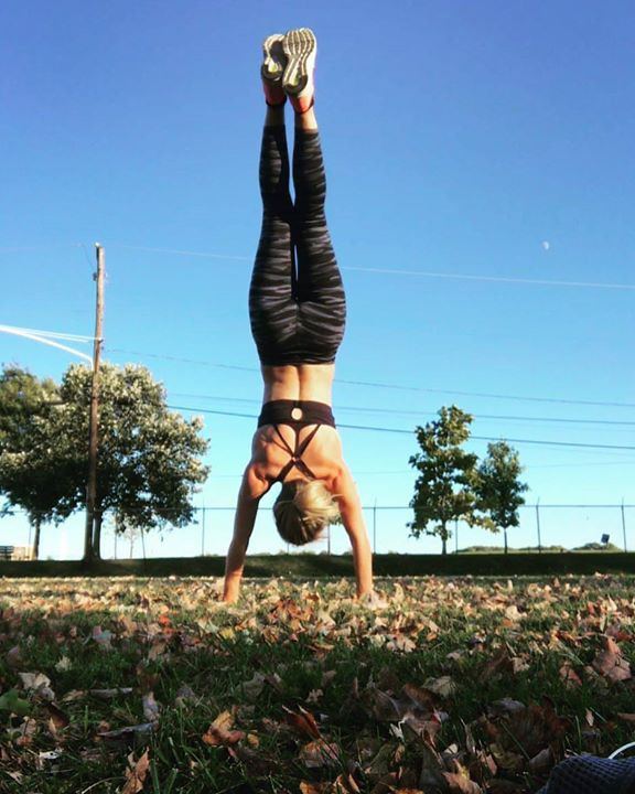 Handstand at the park. Things you can't do during wrist surgery.
