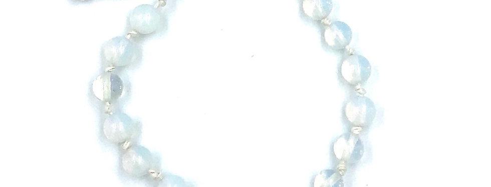 Opalite Adjustable Macrame Bracelet