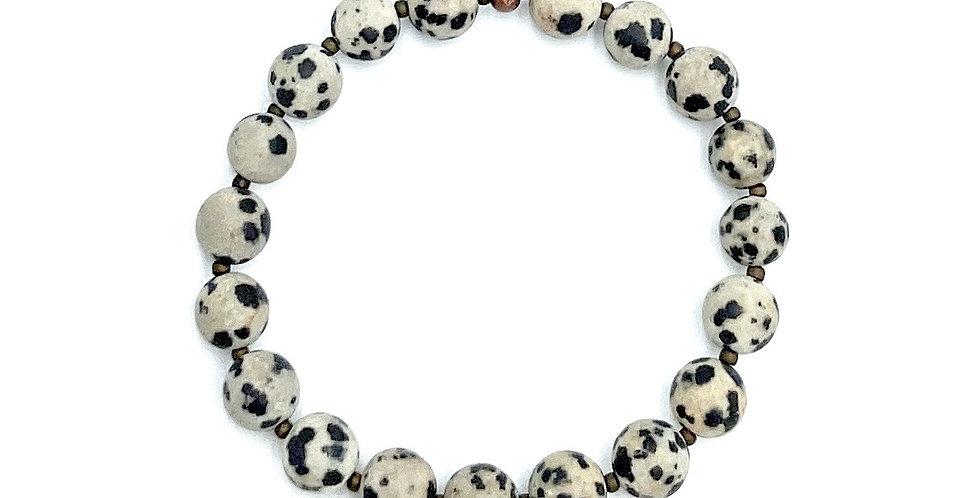 Dalmatian Jasper & Copper Bracelet