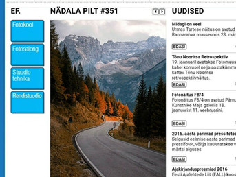 My photo of the Dolomites has been editors best choice on the biggest Estonian Photography School we