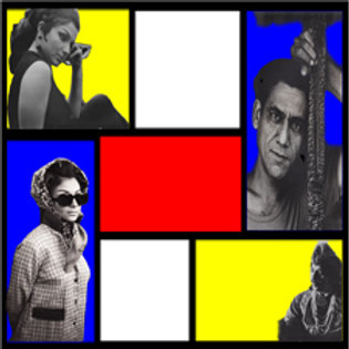 Bollywood Mondrian Artwork