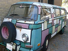 1971 VW Volkswagen Microbus hippie party rental