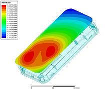 Identix miniPad internal antenna magnetic near field distribution diagram