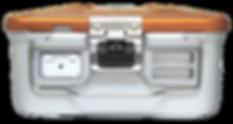 Caixa de cirurgia com tags autoclavável UHF RFID Identhis