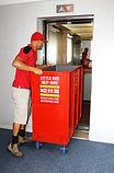 skip bin fits in elevator and lift