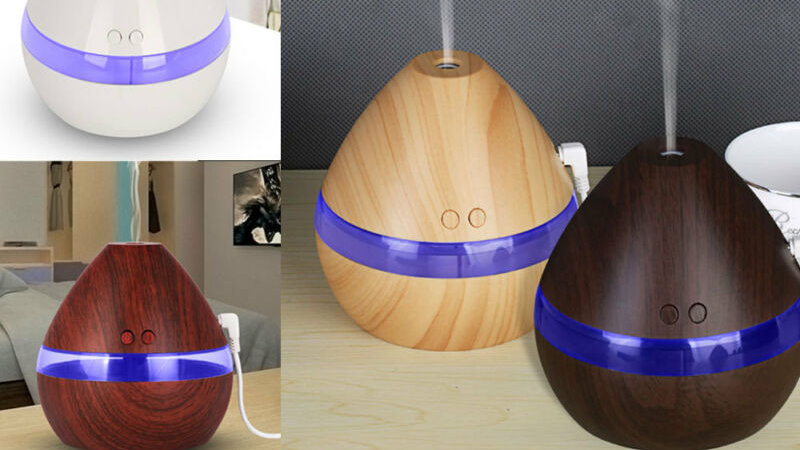 300ML Air Humidifier Essential Oil Diffuser Wood Grain Aromatherapy Diffusers Ar