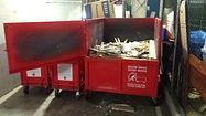 Basement car park skip bins