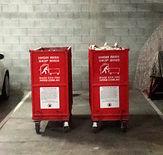 Internal access bins