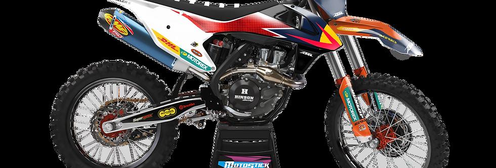 KTM EXC XCW SX-XC 2017-2019 WHİTE RED GRAPHIC DECAL STICKER KIT
