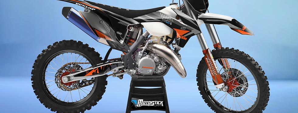 KTM EXC XCW SX-XC 2014-2016  GREY ORANGE GRAPHIC DECAL STICKER KIT