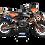 Thumbnail: KTM EXC XCW SX-XC 2017-2019 GRAPHIC DECAL STICKER KIT BLACK ORANGE