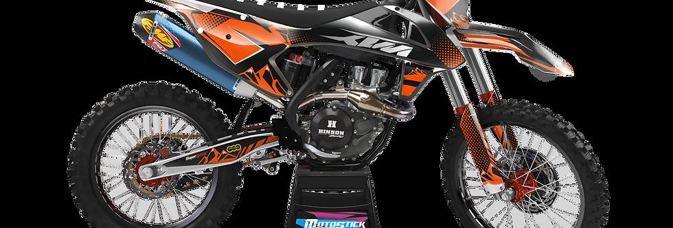 KTM EXC XCW SX-XC 2017-2019 GRAPHIC DECAL STICKER KIT BLACK ORANGE