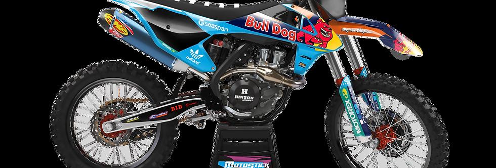 KTM EXC XCW SX-XC 2017-2019 BULLDOG CUSTOM GRAPHIC DECAL STICKER KIT
