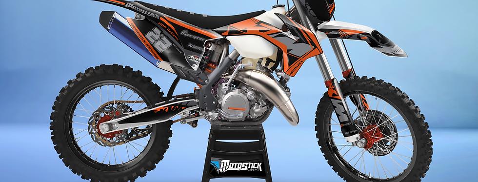 KTM EXC XCW SX-XC 2014-2016  ORANGE GREY GRAPHIC DECAL STICKER KIT