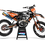 Thumbnail: KTM EXC XCW SX-XC 2017-2019 ORANGE BLACK GRAPHIC DECAL STICKER KIT