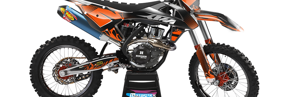 KTM EXC XCW SX-XC 2017-2019 ORANGE BLACK GRAPHIC DECAL STICKER KIT