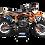 Thumbnail: KTM EXC XCW SX-XC 2017-2019 BLACK GRAPHIC DECAL STICKER KIT