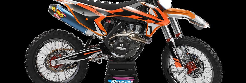 KTM EXC XCW SX-XC 2017-2019 BLACK GRAPHIC DECAL STICKER KIT