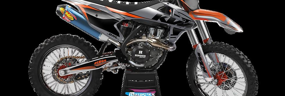 KTM EXC XCW SX-XC 2017-2019 GREY CUSTOM GRAPHIC DECAL STICKER KIT