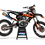 Thumbnail: KTM EXC XCW SX-XC 2017-2019 BLACK ORANGE CUSTOM GRAPHIC DECAL STICKER KIT